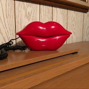 "Vintage ""HotLips"" land line phone"